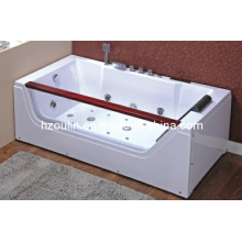 White Acrylic Sanitary Whirlpool Massage Bathtub (OL-673)