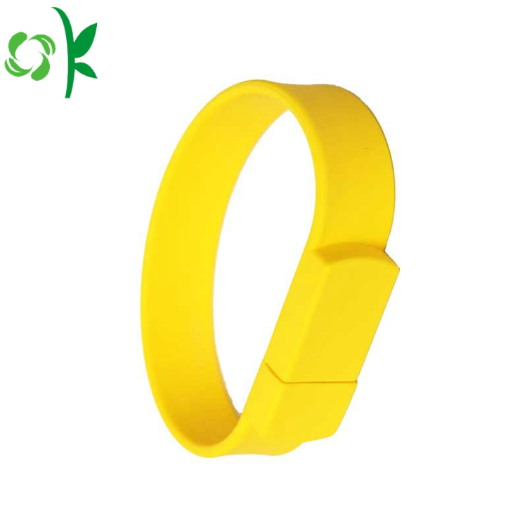 Usb Yellow Silicone Wristbands