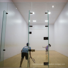 Guangdong 12mm safety unbreakable clear full tempered toughened glass panel for squash tennis paddel court stadium