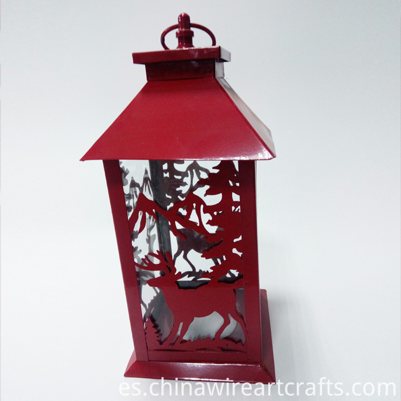 Christmas Decoration Metal Candle Holder Lantern