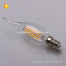 LED Filament C35T Candle Bulb 2w 4w 6w e14 base