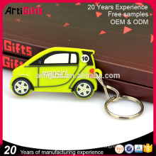 Wholesale promotional products metal mini taxi shape pvc keyring