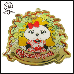Cartoon Bear Pendant keychain gold for women