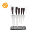 Custom label knife chef set 6pcs swiss line knife set