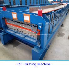 Hoja de aluminio de la azotea de doble capa que hace la máquina