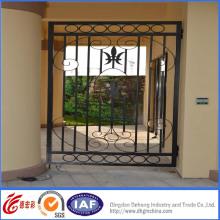 Hermosa puerta de seguridad de hierro forjado