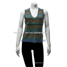 women's striped vest