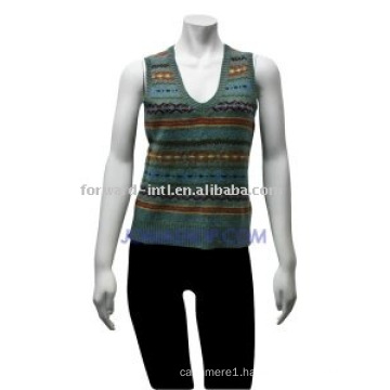 women's striped vest
