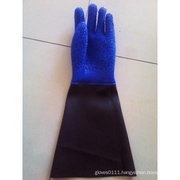 SunnyHope Slip resistant pvc coated waterproof oil resistant fishing glove