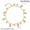 74480-18k gold plated anklet designs jewelry string anklet ,jewelry golden models 18k gold anklet