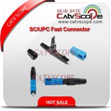 Conector rápido de alta calidad de la fibra óptica de Sc / Upc FTTH