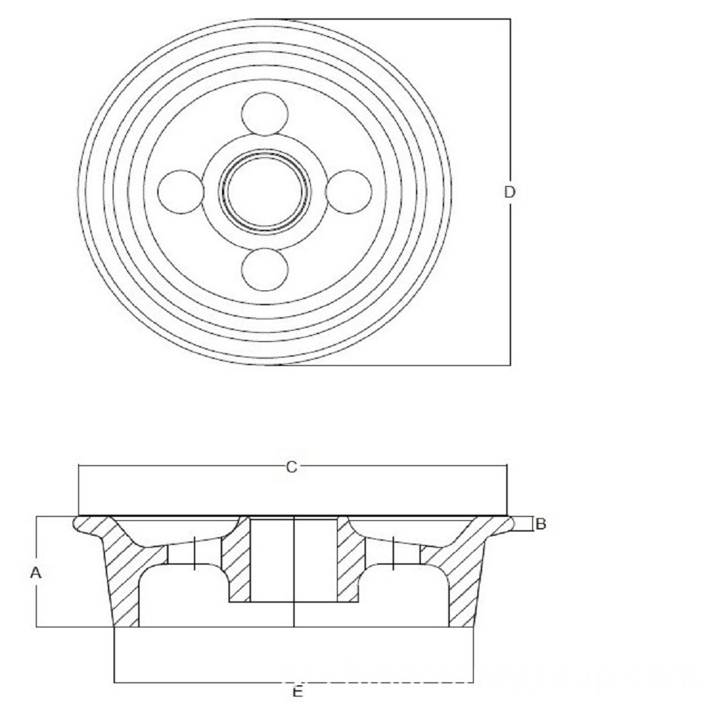 CRANE WHEELS DRAWING
