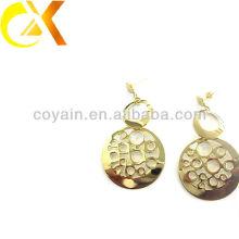 Нержавеющая сталь ювелирных реальных 18k золото обшивки серьги стержня для женщин