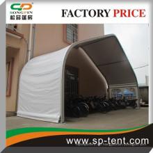 Span 20m große weiße gebogene Auto Dach Zelt in Aluminium Rahmen für Outdoor-Auto Lagerung und Parkplatz