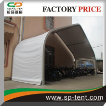 Span 20m grande tente de toit de voiture courbe en aluminium en aluminium pour le stockage et le stationnement de voitures en plein air