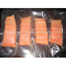 Frozen pink salmon portion