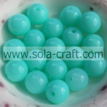 Jewelry Accessories Light Blue Crystal Plastic Acrylic 6MM Sparking Beads YiWu Supplier