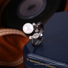 оптовая изготовление ювелирных изделий жемчужное кольцо дизайн для женщин