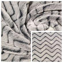 Tecido de lã de flanela 100% poliéster com listras Minky