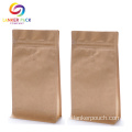 Custom Printed Kraft Coffee Bag Dengan Valve