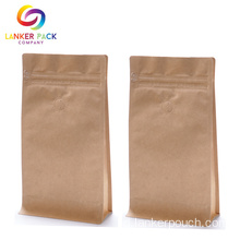 Brown Kraft Paper Coffee Bag Dengan Degassing Valve