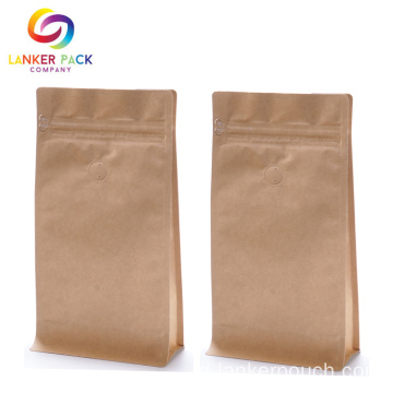 Kustom Dicetak Kraft Coffee Bag Dengan Valve