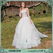 2017 Vestido de noiva sem costura feito sob encomenda da fábrica de guangzhou na China