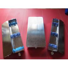Boîte de casier de stérilisation d'instrument d'acier inoxydable