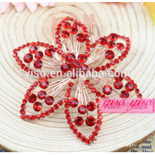 princess real red diamond wedding hair jewelry combs