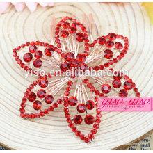 Принцесса настоящие красные бриллиантовые свадебные украшения для волос
