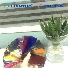 Folhas plásticas acrílicas coloridas do espelho