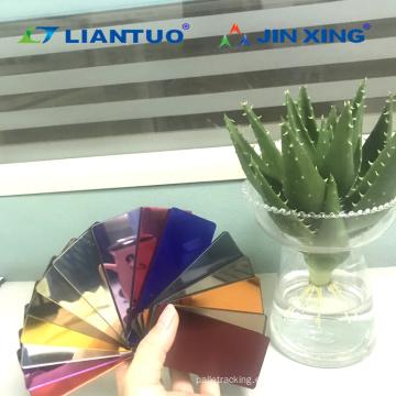 Hojas de espejo de plástico acrílico de colores
