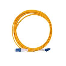 Cable al por mayor del remiendo óptico de la fibra del conectador del LC-LC del dúplex
