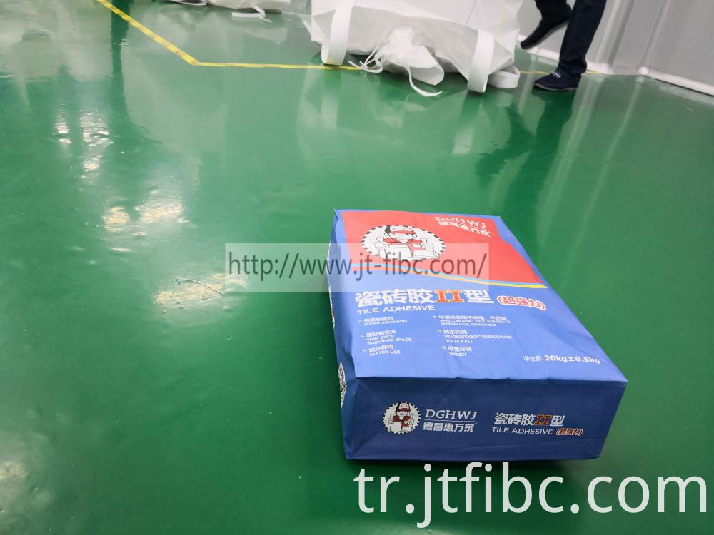 Square Plastic Kraft Paper Valve Bag