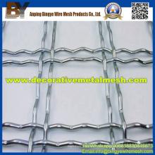 Acanalado decorativo de acero inoxidable tejido de malla de alambre prensado