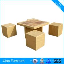 Плетеная мебель деревянный стол секционный набор столовой