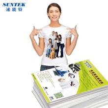 Papel para impresión de inyección de tinta láser oscuro Color de la luz camiseta termal de la transferencia
