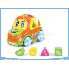 Electric Car Educational Toys with Music and Education Blocks Toys