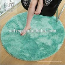 tapis de salon rond en polyester de salon de textile de luxe