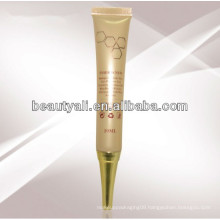 10ml eye cream tube with silver hot stamping with silver hot foiled cap