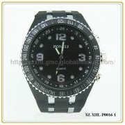 Fashion wrist silicon watch,plastic watch case with plastic strap