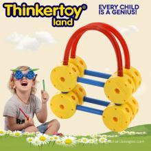Novo plástico crianças cérebro educação preço de fábrica brinquedo cesta de plástico