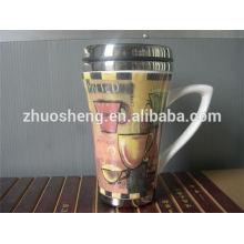 2015 nuevo regalos tazas de café cerámica barato logotipo, personalizadas tazas de viaje