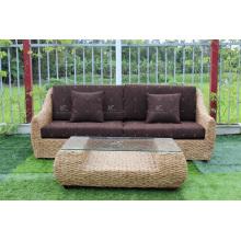 Горячие продажи великолепный дизайн, водяной гиацинт диван для использования в помещении или гостиной Натуральная плетеная мебель