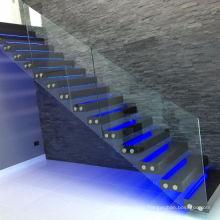 Vogue Livingroom LED Floating Glass Staircase