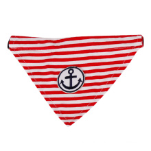 Wholesale Dog Pet Bandana Accessories Anchor Striped Dog Pet Scarf