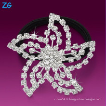 Bandeau de mariage en cristal strass en cristal de haute qualité, bande de cheveux français, bande de cheveux en niquette rhinestone