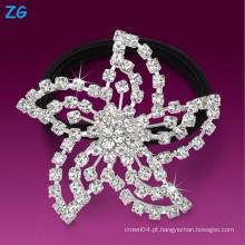 Alta qualidade cristal cheio headband do casamento do Rhinestone, faixa francesa do cabelo, senhoras rhinestone faixa bridal do cabelo