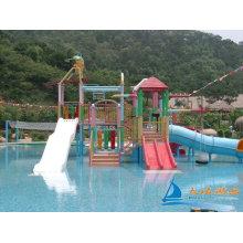 7m Amusement Park Water Playground Aquatic Play Structures Slides Equipment
