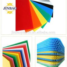 JINBAO Certificação SGS novo material do pacote 3mm branco azul oco pp board